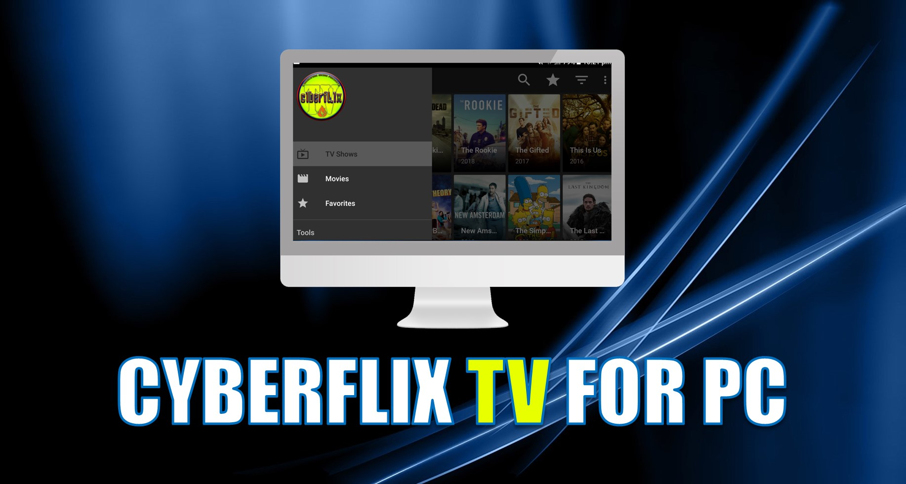 cyberflix tv for pc